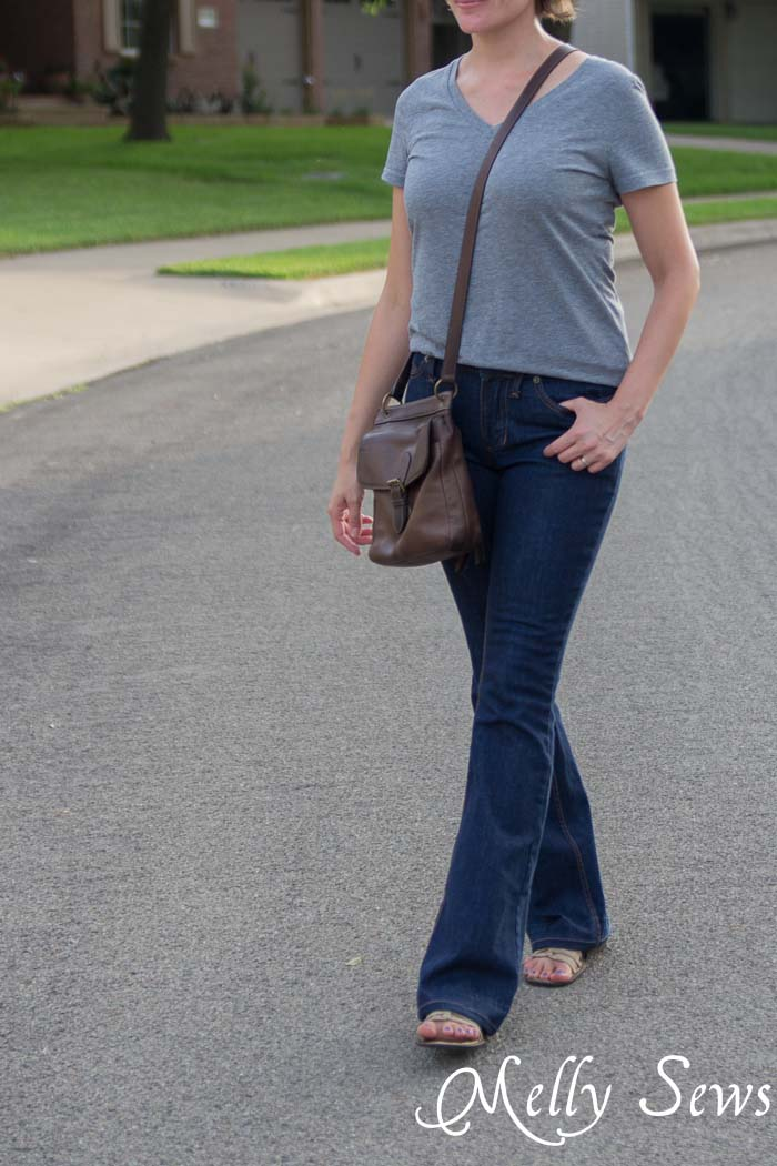 Ginger Flares sewn by Melly Sews, pattern by Closet Case Files - Learn About Sewing Jeans