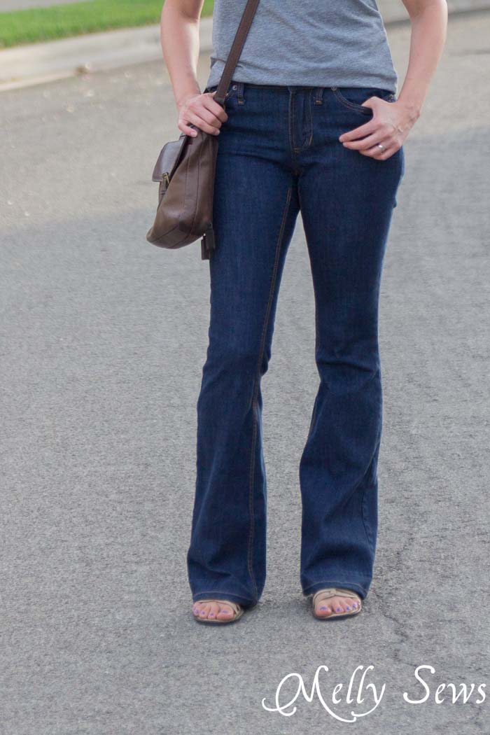 Front - Ginger Flares sewn by Melly Sews, pattern by Closet Case Files - Learn About Sewing Jeans