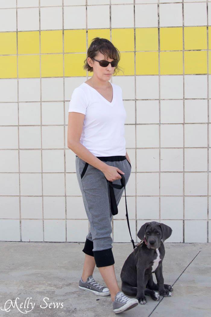 Gray joggers - Hudson Pants sewn by Melly Sews