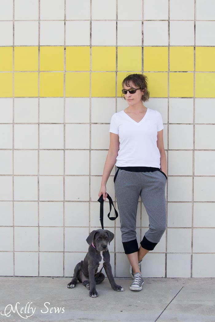 Casual outfit - Hudson Pants sewn by Melly Sews