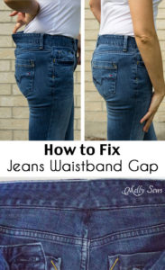 How to Fix Jeans Waistband Gap - Do it Right and This Alteration is Almost Invisible - Melly Sews