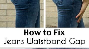 Fix Jeans Waistband Gap – Jean-ious Ideas