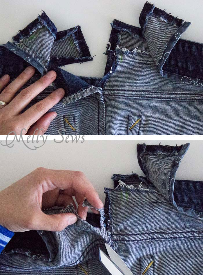 Step 5 - How to Fix Jeans Waistband Gap - Do it Right and This Alteration is Almost Invisible - Melly Sews