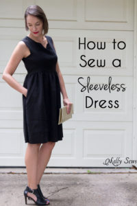 How to Make a Dress Sleeveless - With a Lined Bodice - Sewing Tutorial by Melly Sews