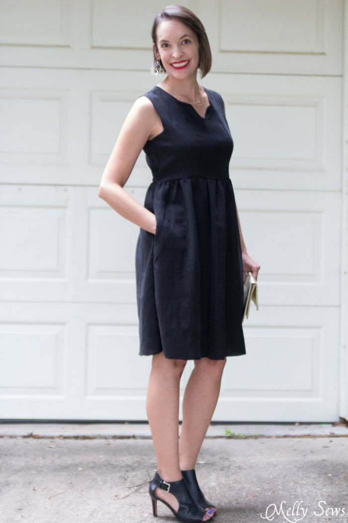Modern Little Black Dress - So Versatile - How to Make a Dress Sleeveless - With a Lined Bodice - Sewing Tutorial by Melly Sews