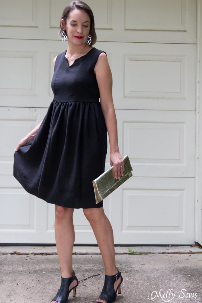 Sophisticated Styling for a Little Black Dress - How to Make a Dress Sleeveless - With a Lined Bodice - Sewing Tutorial by Melly Sews