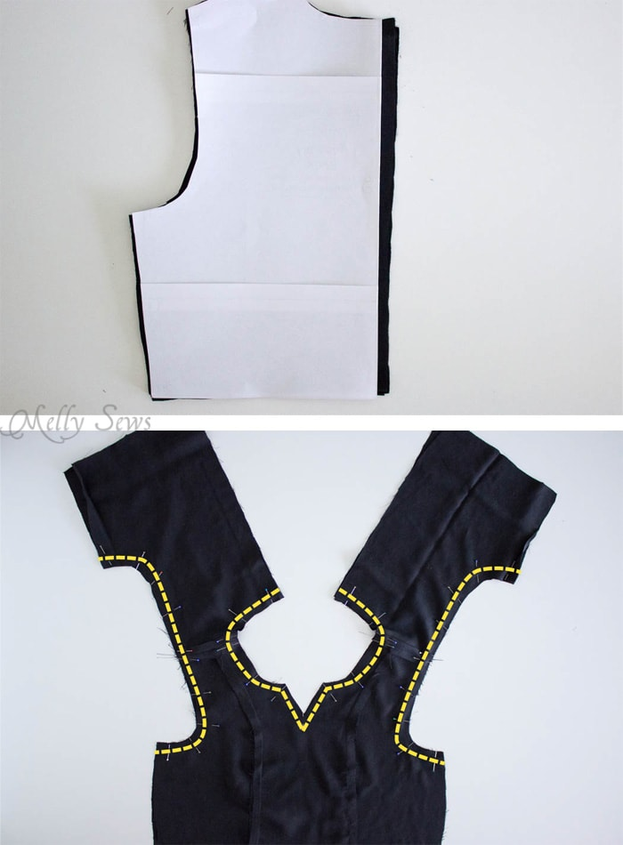 Step 1 - How to Make a Dress Sleeveless - With a Lined Bodice - Sewing Tutorial by Melly Sews