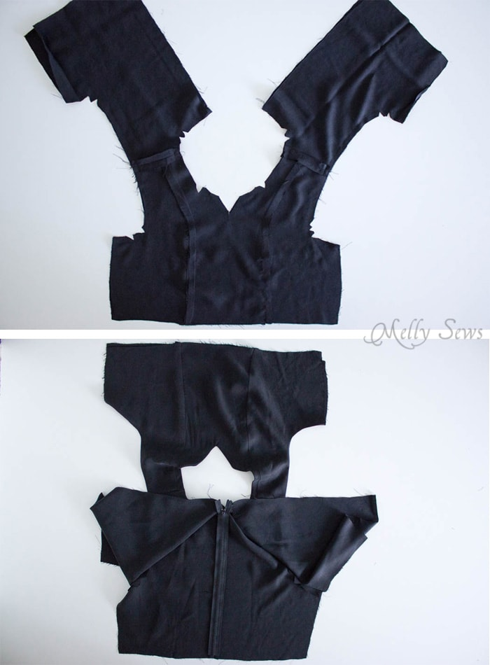 Step 2 - How to Sew a Sleeveless Dress - With a Lined Bodice - Sewing Tutorial by Melly Sews