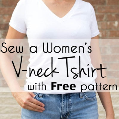 Sew a V-Neck Women's T-shirt – with Free Pattern