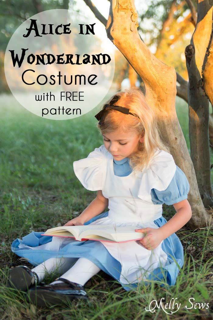 Alice in Wonderland Costume - Sew a DIY Alice in Wonderland costume with a free pattern and tutorial from Melly Sews
