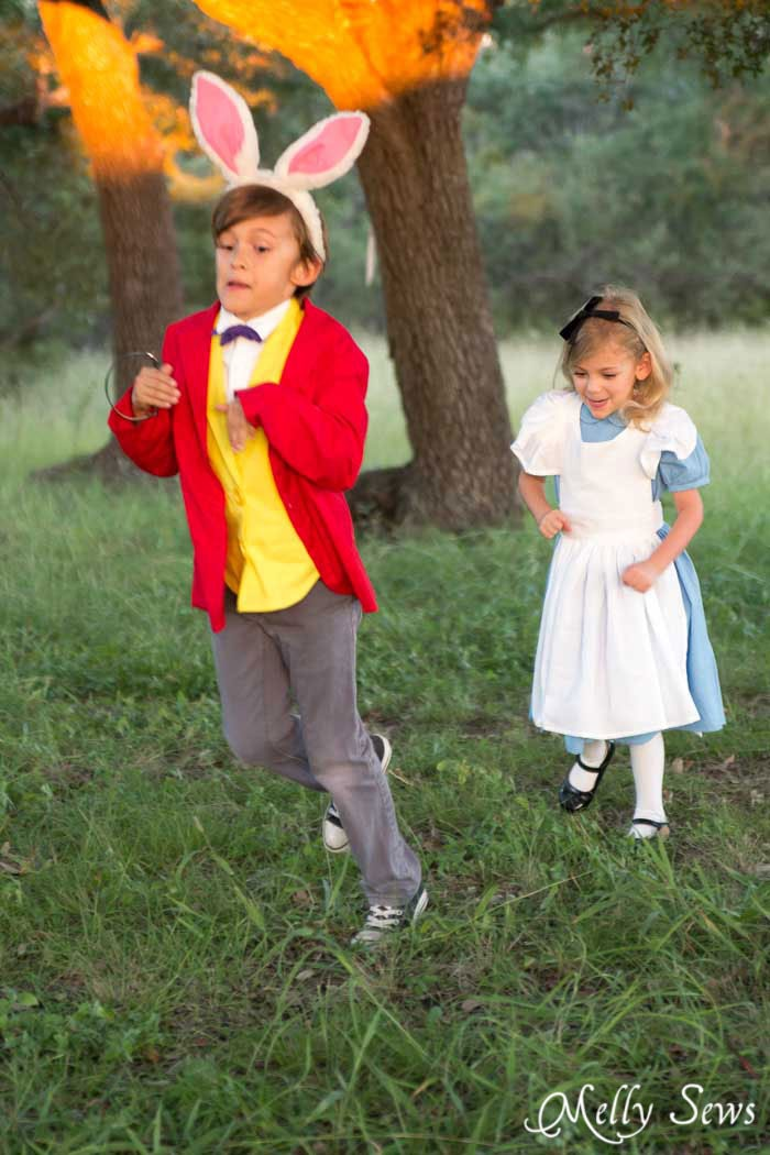 Alice Chases the Rabbit - Alice in Wonderland Costume - Sew a DIY Alice in Wonderland