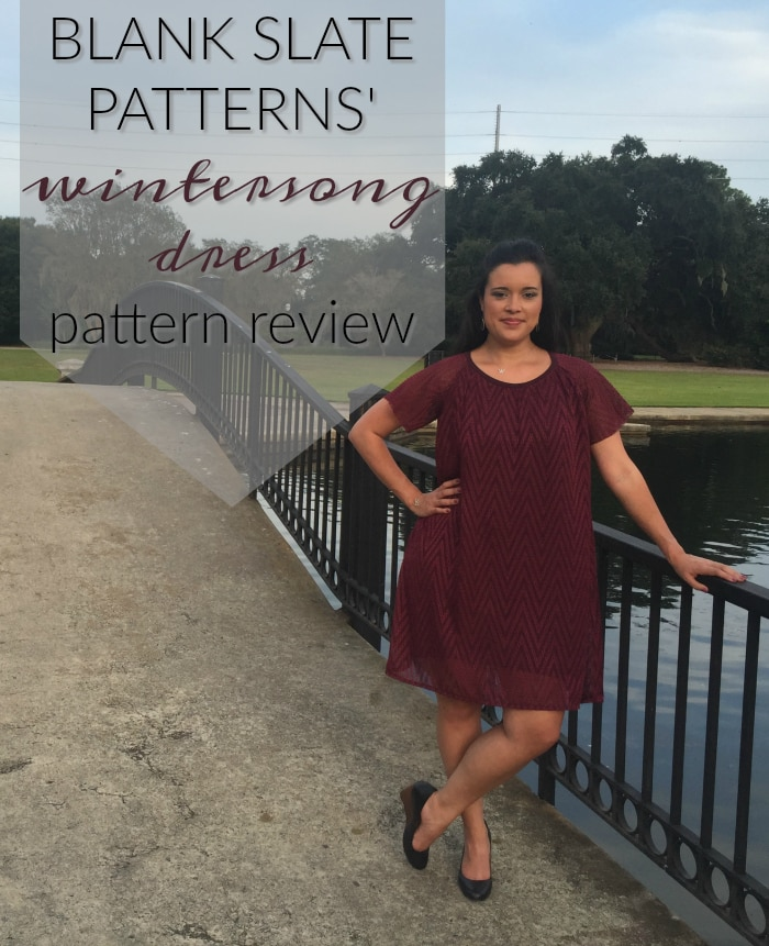 Wintersong Dress sewing pattern by Blank Slate Patterns sewn by Inside The Hem