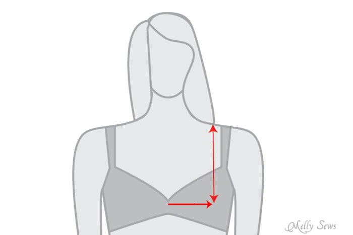 How to find your bust apex - Bust Apex Adjustment Tutorial - Melly Sews
