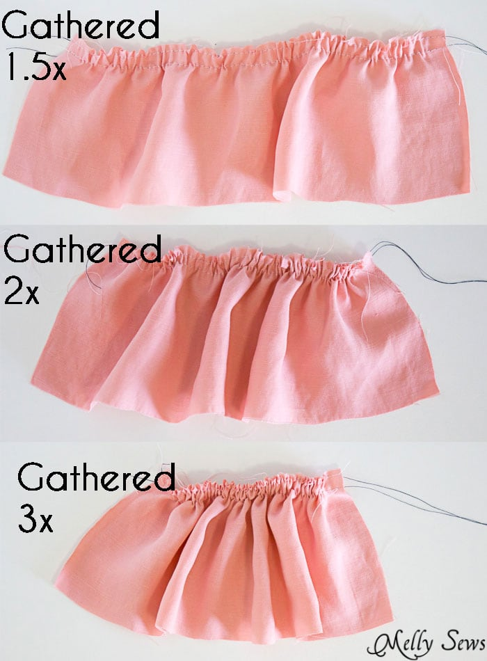 Ruffle Gathering Ratios - How to Add a Ruffle to a Garment - DIY Sewing Tutorial by Melly Sews