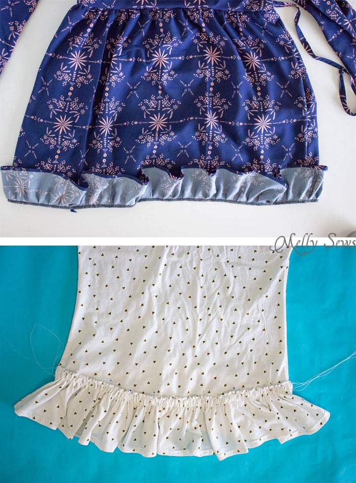 Two ways to sew on a ruffle - How to Add a Ruffle to a Garment - DIY Sewing Tutorial by Melly Sews
