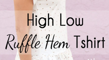 Ruffle Hem TShirt – High Low Blanc Tshirt Hack