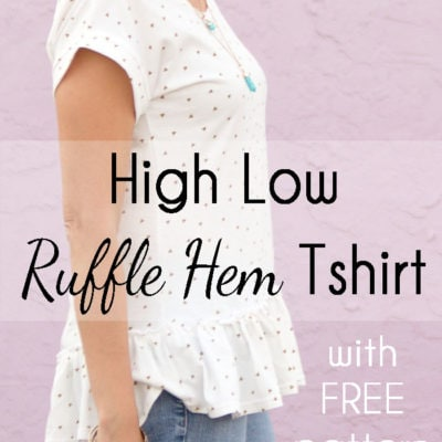 Ruffle Hem TShirt – High Low Blanc Tshirt Hack