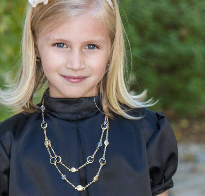 Little Bow Pleat Dress sewing pattern by Blank Slate Patterns sewn by SewSophieLynn