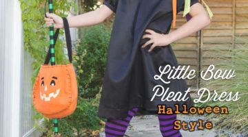 Little Bow Pleat Dress with SewSophieLynn