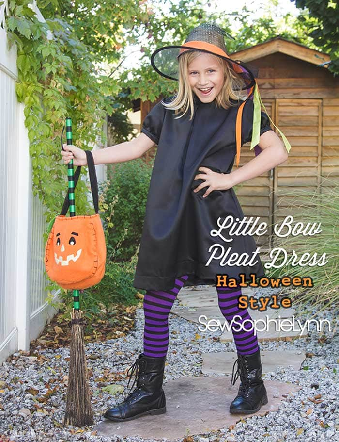 Little Bow Pleat Dress sewing pattern by Blank Slate Patterns sewn by SewSophieLynn