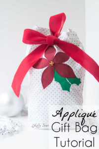 Appliqué Re-Usable Gift Bag - sew a Gift Bag with this tutorial from Melly Sews