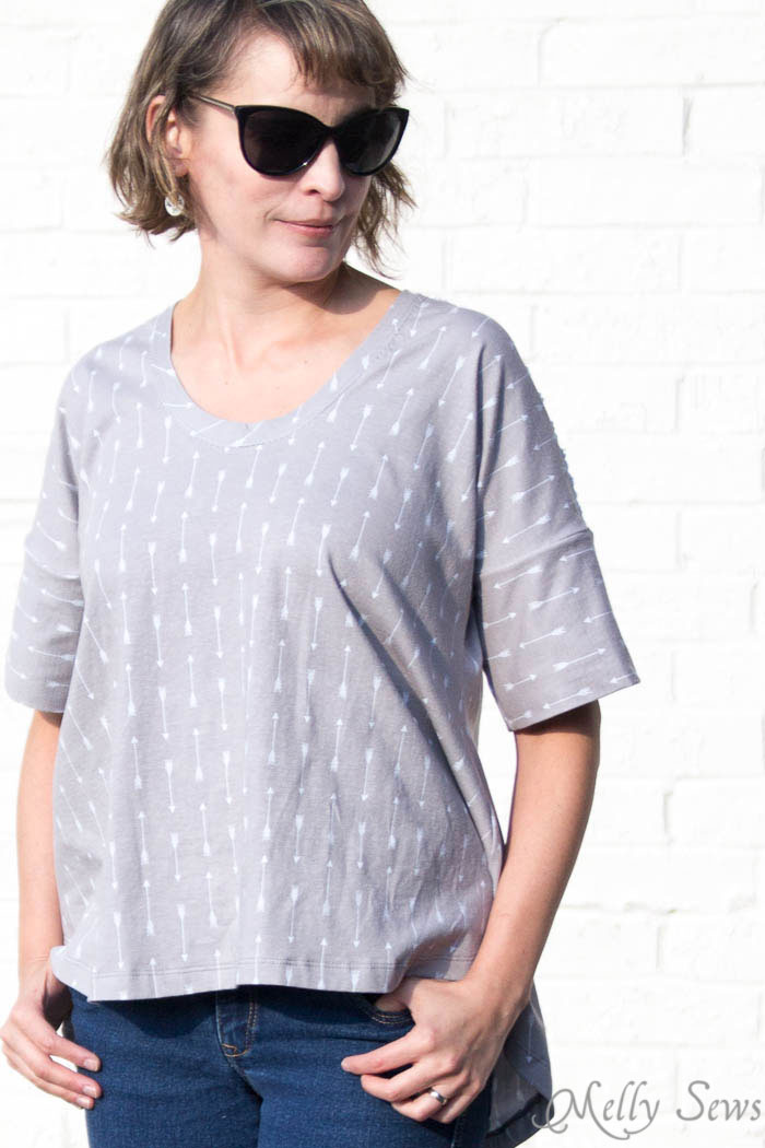Summer Concert Tshirt pattern by Dixie DIY sewn by Melly Sews in By Popular Demand Knit