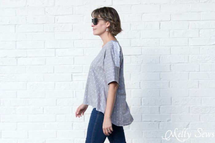 Looks so comfy - Summer Concert Tshirt pattern by Dixie DIY sewn by Melly Sews in By Popular Demand Knit