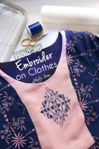 How to Embroider Clothes - an overview by Melly Sews