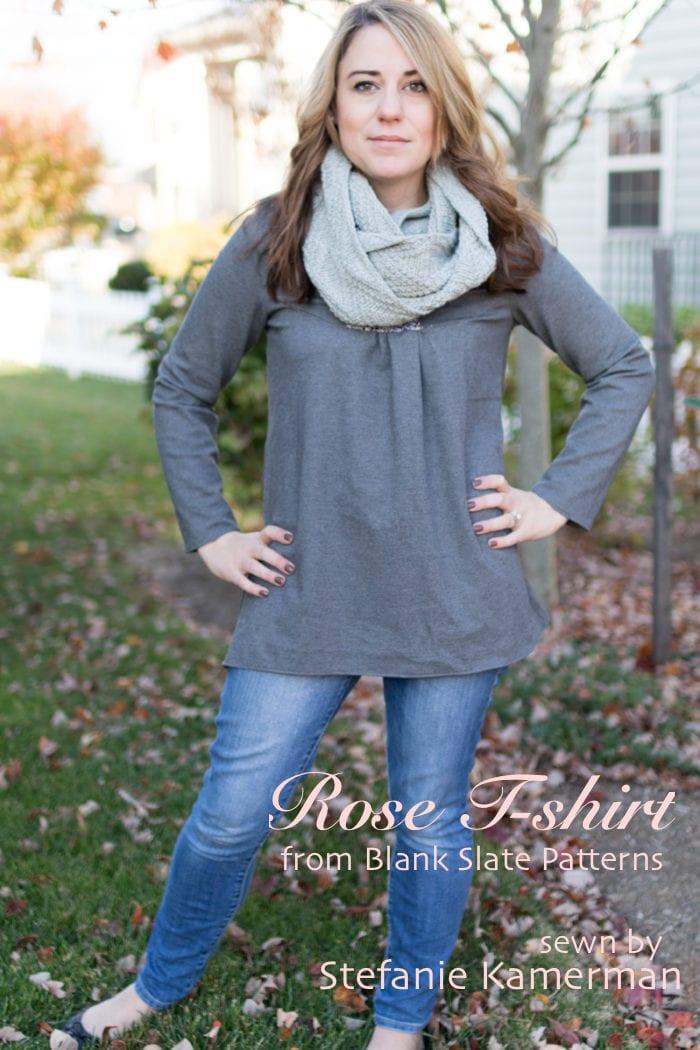 Rose T-shirt from Blank Slate Patterns sewn by Stefanie Kamerman