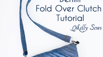 Upcycled Denim Fold Over Clutch Tutorial