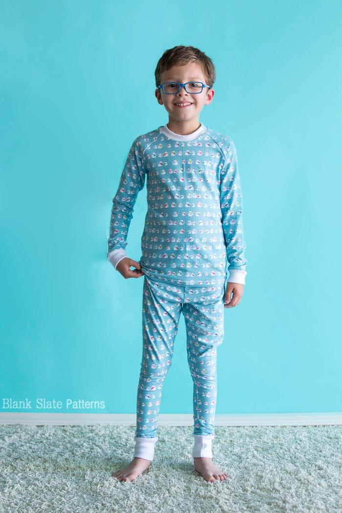 Dreamtime Jammies - Kids Pajama Pattern from Blank Slate Patterns - sew matching Christmas pajamas
