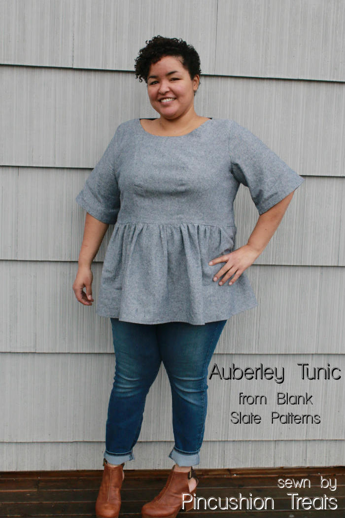 Auberley Tunic sewing pattern from Blank Slate Patterns sewn by Pincushion Treats