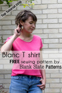 Top 5 Tutorials 2016 - Sew a Blanc T-shirt - from Melly Sews