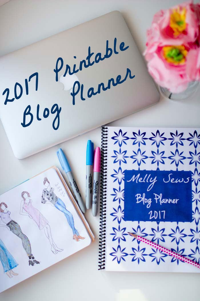 Free Printable Planner Pages 2017 Blog Planner Melly Sews