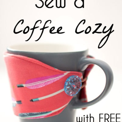 Sew a Coffee Cozy – Free Pattern and Tutorial