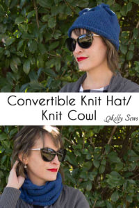 Convertible Knit Hat to Knit Cowl - Free Knitting Pattern for this versatile accessory - Melly Sews