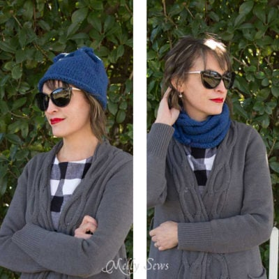 Convertible Knit Hat/Knit Cowl