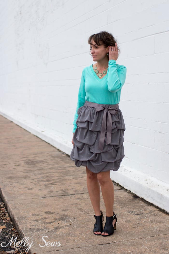 Casual and dressy - Sew a V-neck Women's T-shirt - Use this free pattern and tutorial from Melly Sews. Every girl needs this!