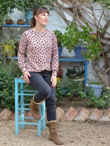 Tulip Top sewing pattern by Blank Slate Patterns sewn by Mamemimo