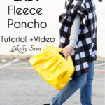 Top Tutorials 2016 – #2 – Sew a Fleece Poncho