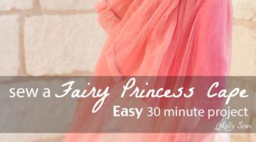 Top Tutorials 2016 – #5 Fairy Princess Cape