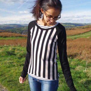 Rivage Raglan by Blank Slate Patterns sewn by ym.sews