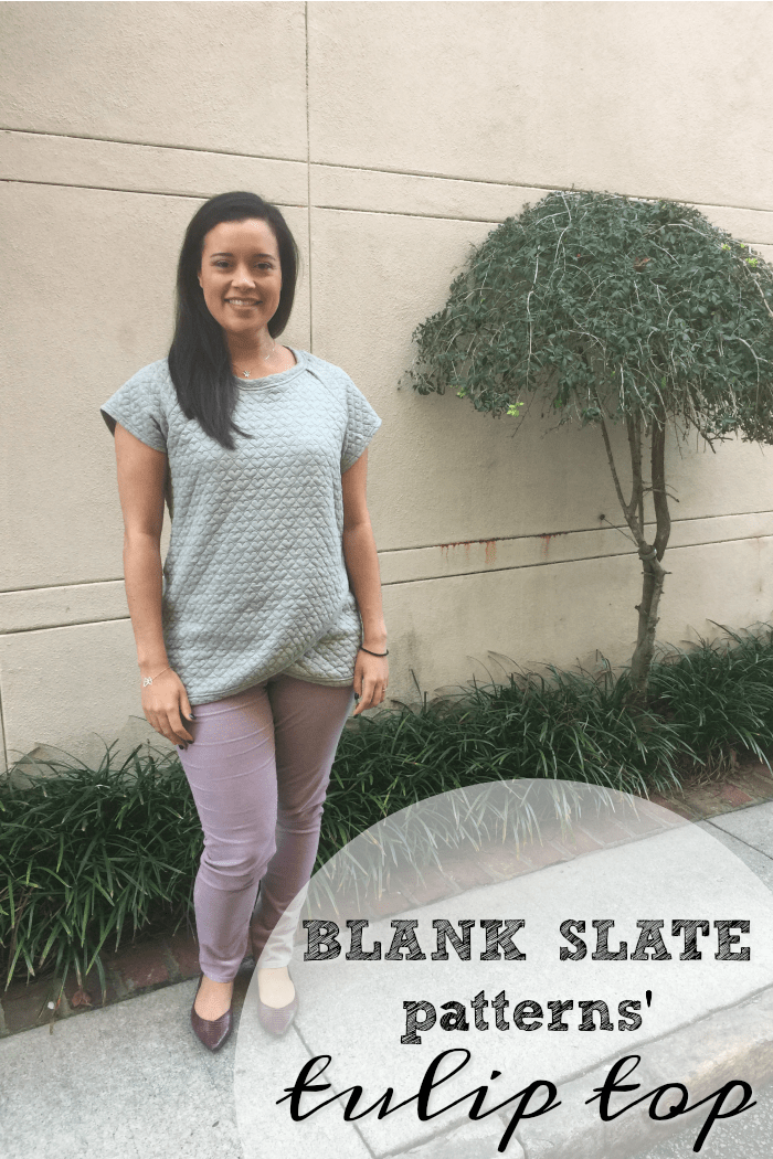 Tulip Top by Blank Slate Patterns sewn by Inside The Hem