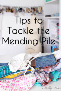 How to Mend - Get through your mending pile with these tips and tricks from Melly Sews - DIY alterations