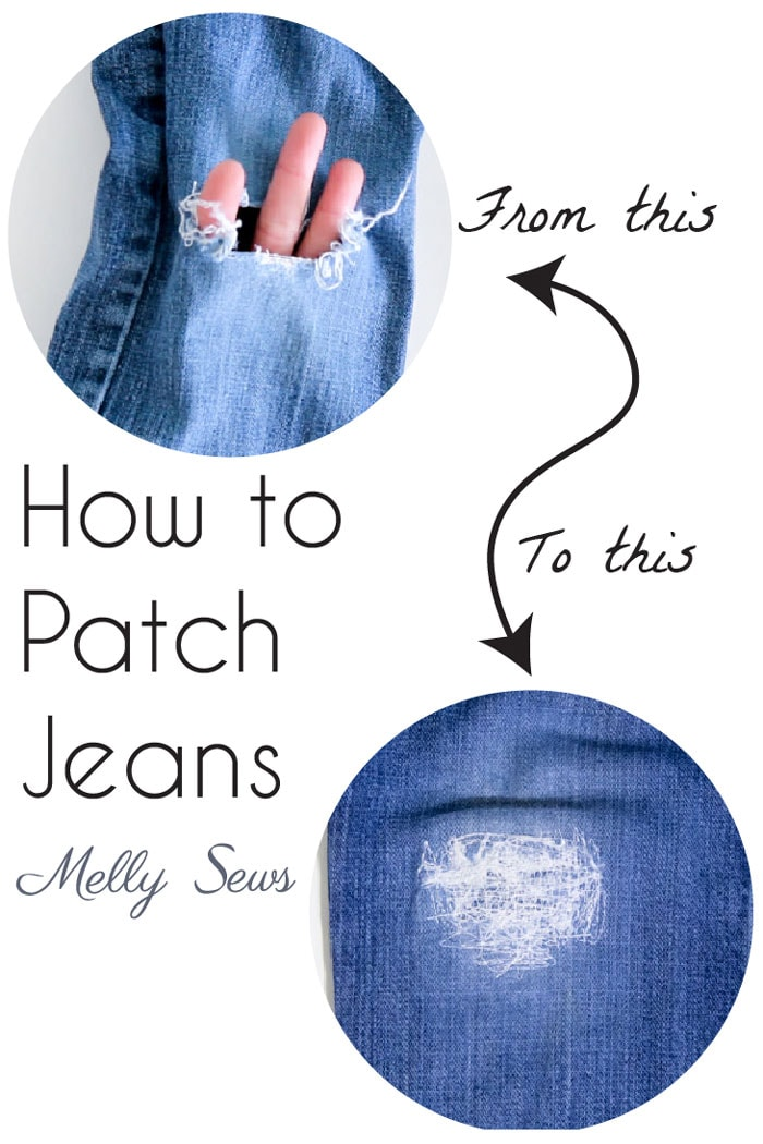 How to patch jeans - a DIY sewing tutorial with video from Melly Sews How to patch jeans - a DIY sewing tutorial with video from Melly Sewsz