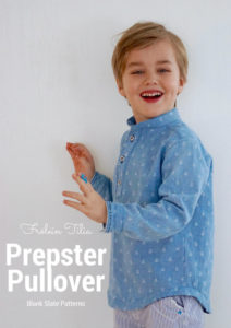 Prepster Pullover by Blank Slate Patterns sewn by Frölein Tilia