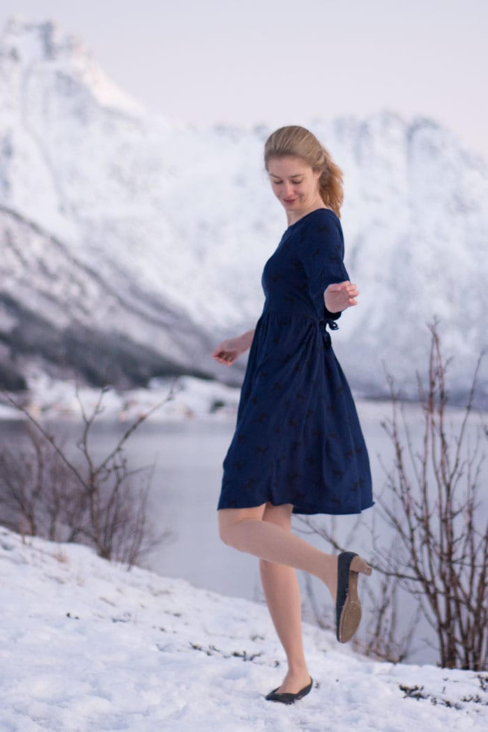 Auberley Dress by Blank Slate Patterns sewn by Sew Mariefleur