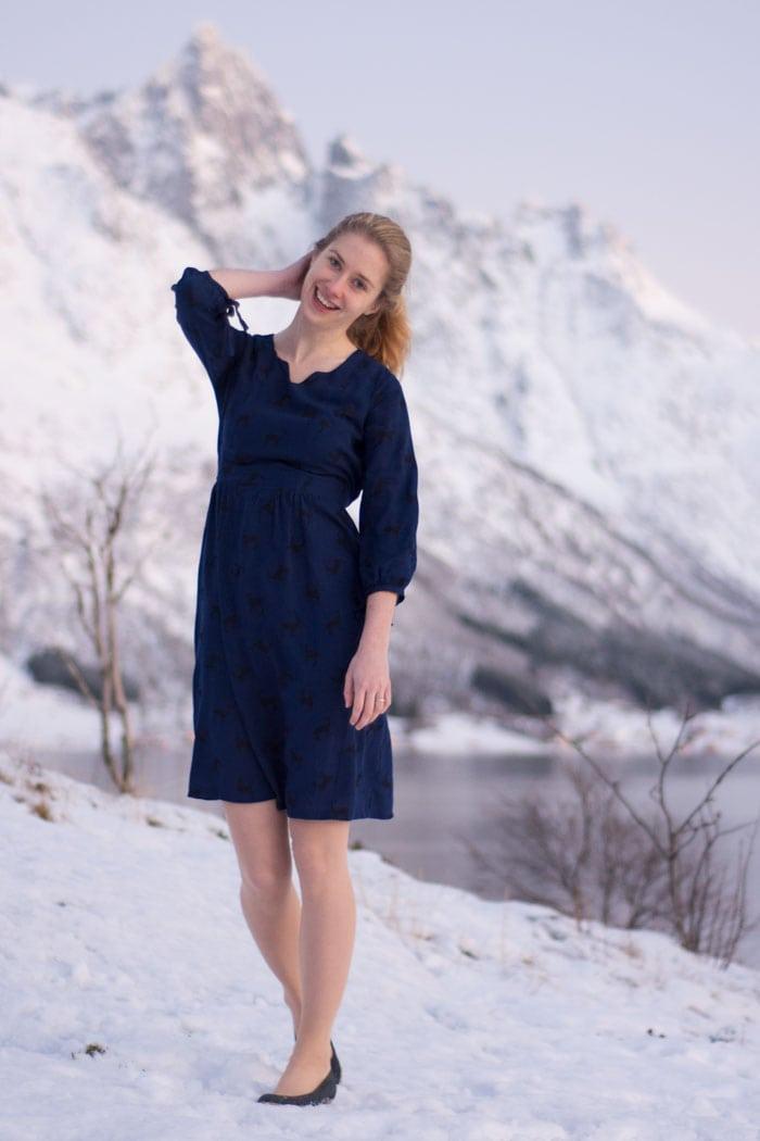 Auberley Dress by Blank Slate Patterns sewn by Sew Mariefleur