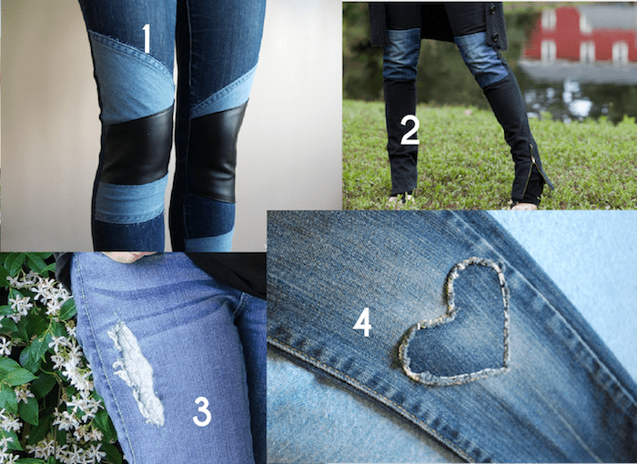 Creative Jeans Mending with Designer Flair - inspiration from Melly Sews