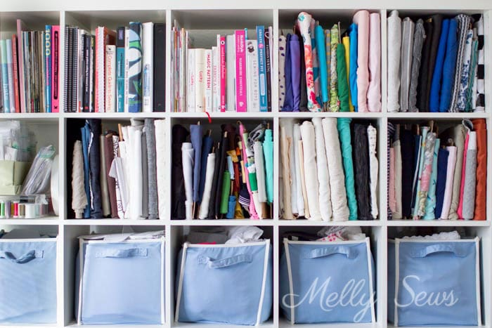 How to store fabric - Sewing studio organization - pattern stash tips and tricks - Melly Sews